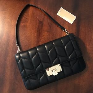 Black Michael Kors Quilted Clutch